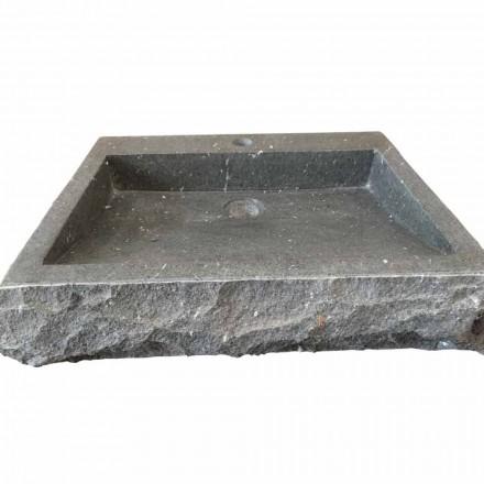 Nisa ručně umýt pravoúhlé umyvadlo z kamenného andezitu