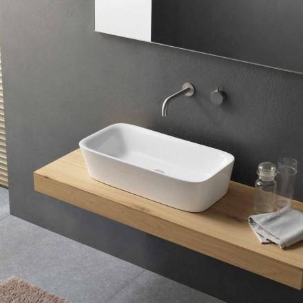 Moderní obdélníkové umyvadlo na desku v keramickém designu - Lipperialav1