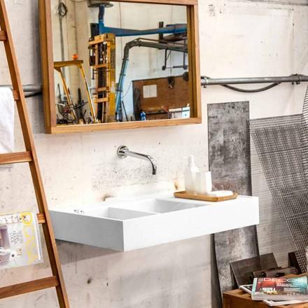 Nástěnné umyvadlo / volně stojící s nádobou v pevném povrchu Enna