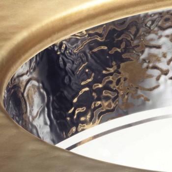 Barokní umyvadlo v požární hlíně a platině vyrobené v Itálii, Egejské moře