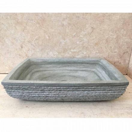 Navrhněte zelené umývadlo pro koupelnu Hilda z přírodního kamene