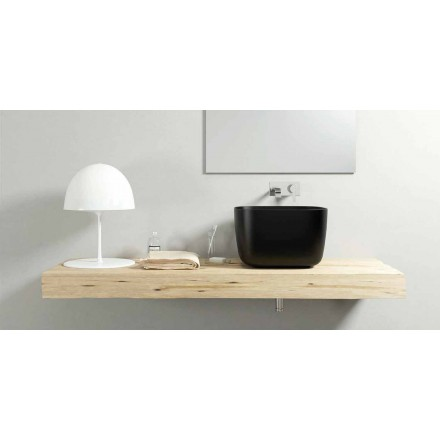 Moderní design umyvadlo na desce umyvadla vyrobené v Itálii, Lallio, ze 100%