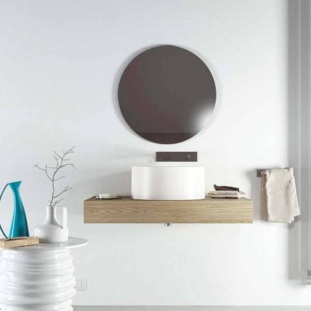 Designové kulaté umyvadlo na pracovní desce vyrobeno 100% v Itálii, Forino