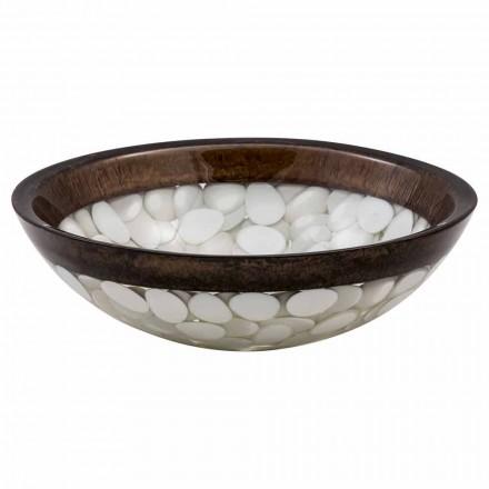 Kruhové umývadlo na ruku vyrobené z pryskyřice, Buguggiate