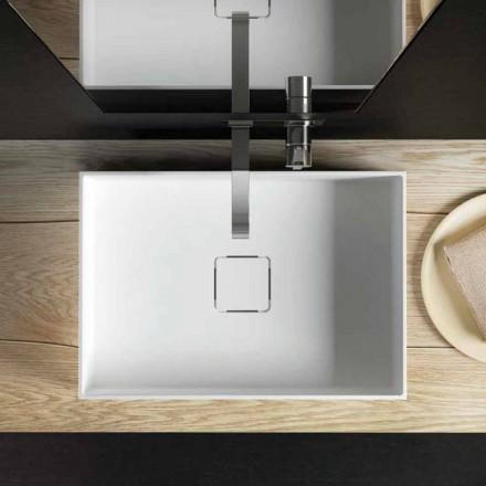 Moderní designový dřez na desku, vyrobený v Itálii 100%, Lavis