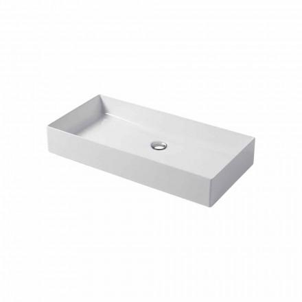 Designové umyvadlo na desku v bílé nebo barevné keramice Leivi