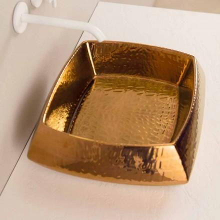 Designové umyvadlo v bronzové keramice vyrobené v Itálii Simon