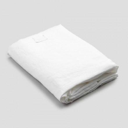 List z bílého lnu pro manželskou postel, luxusní design vyrobený v Itálii - Fiumano