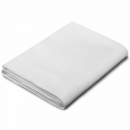 King Size, Single a Full-Sheet Sheet in White Linen Made in Italy - Blessy