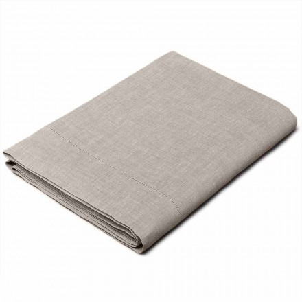 Single, King size a Full-size Natural Linen Sheet Made in Italy - Chiana