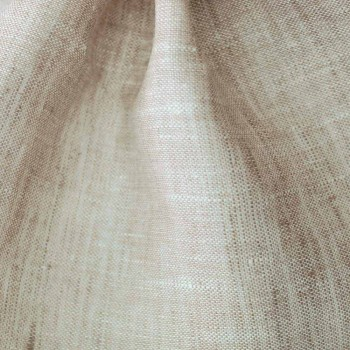 Čistě lněné dno s rohy přírodní barvy vyrobené v Itálii - Copertino