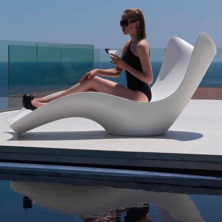 Moderní venkovní lehátko, v polyethylenu, Surf by Vondom, 2 kusy
