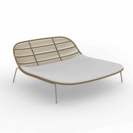 Dvojitá stohovatelná zahradní postel z hliníku a tkaniny - Panama Talenti