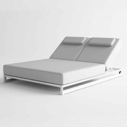Venkovní lehátko v hliníku a tkanině - Gioacchino