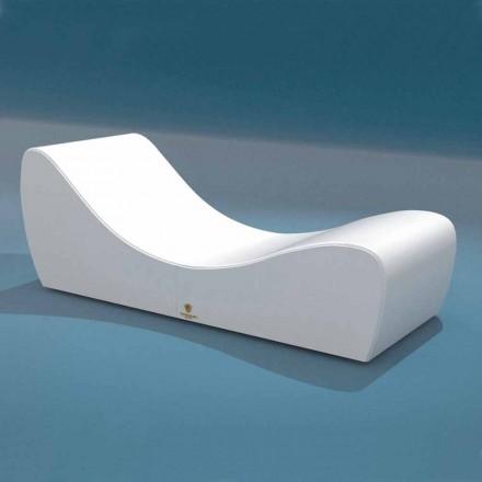 Postýlka relaxovat Wave Trona bílé námořních imitace kůže Made in Italy