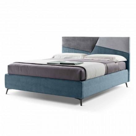 Manželská postel s čalouněným kontejnerem Made in Italy Fabric - Raggino