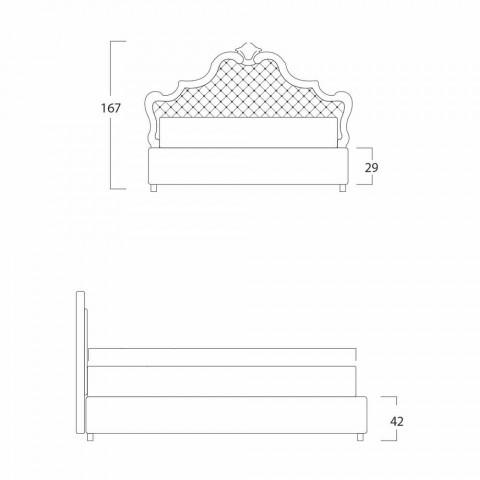 Klasická manželská postel, bez úložného prostoru, Chantal by Bolzan