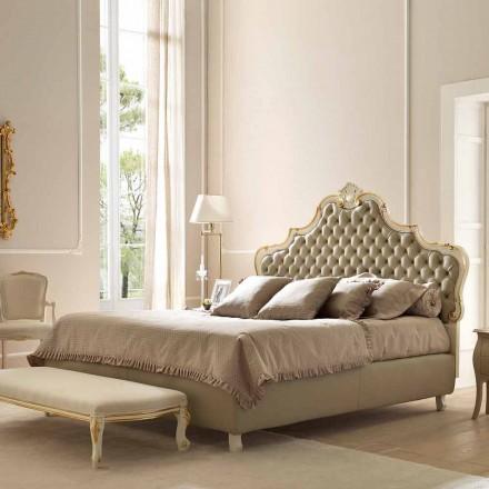 Manželská postel s lůžkovým kontejnerem, klasický design, Chantal by Bolzan