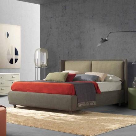 Manželská postel s lůžkovým kontejnerem, moderní design, Kate by Bolzan