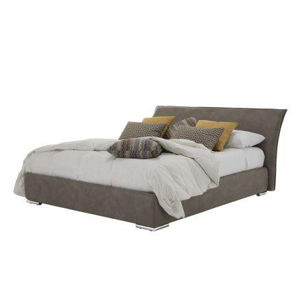 Manželská postel s nádobou z látky nebo eko-kůže Vyrobeno v Itálii - Doremì