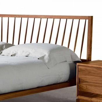 Design dvojlůžka 160x200cm s pevnou základnou Alain ořech