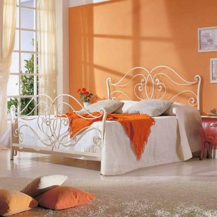 Manželská postel z masivního železa Allie designem, vyrobený v Itálii