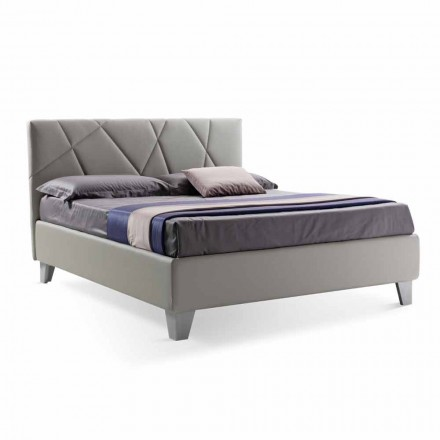 Moderní design manželská postel čalouněná s krabicí Made in Italy - Ciottolino