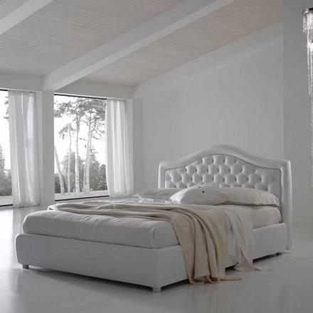 Manželská postel s kontejnerem, klasický design Capri by Bolzan