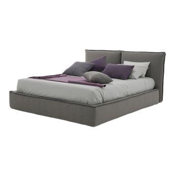 Čalouněná manželská postel s umělou kůží nebo tkaninovou zásuvkou - Notre Dame