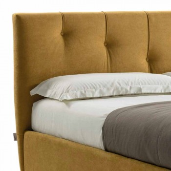 Čalouněná manželská postel s látkovým kontejnerem Made in Italy - Mask