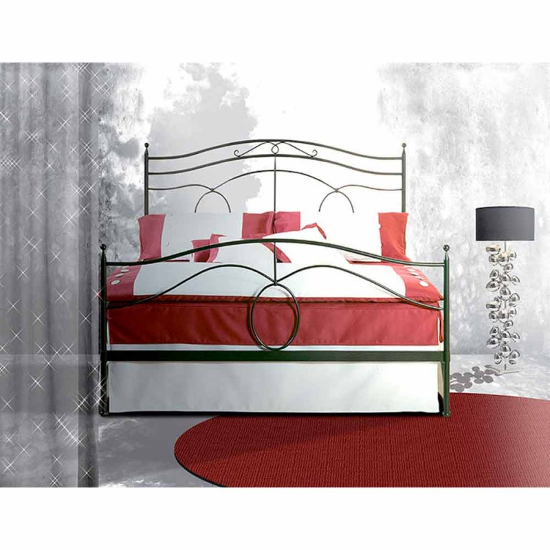 Manželská postel kované železné Cassiopeia