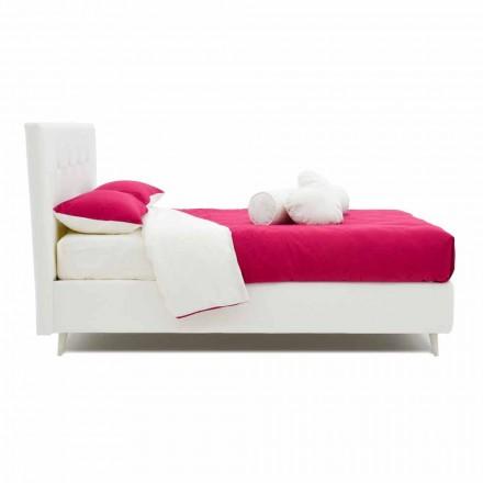 Manželská postel čalouněná koženkou se Swarovski Made in Italy - Perzio