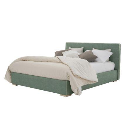 Manželská postel z tkaniny nebo eko-kůže s nádobou Vyrobeno v Itálii - Etoile