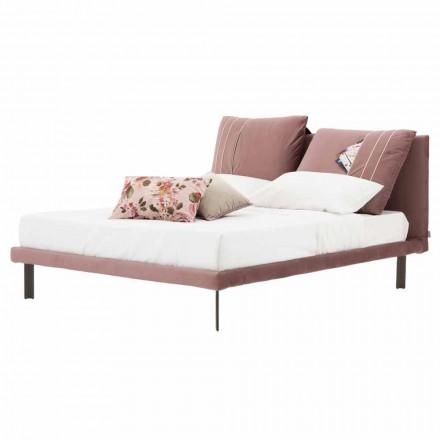 Manželská postel potažená odnímatelnou látkou vyrobenou v Itálii - Tevio