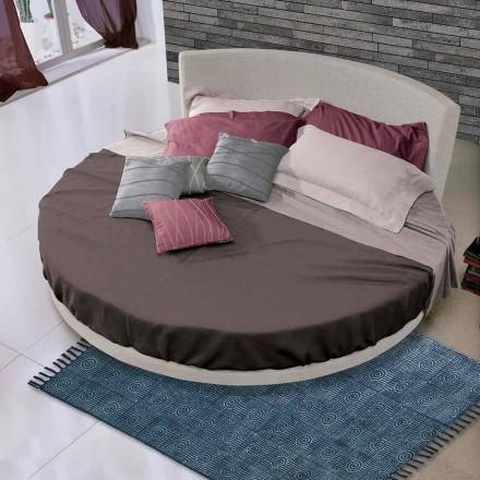 Kulatá designová manželská postel potažená látkou, vyrobená v Itálii - Rello