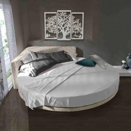 Moderní kulatá manželská postel s úhlovým čelo vyrobeným v Itálii - Tima