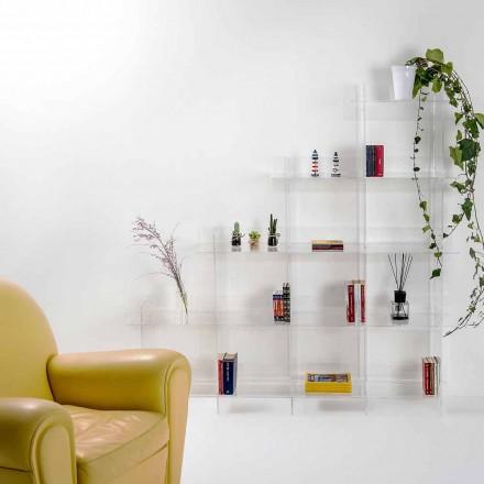 Knihovna průhledná stěna Sfera3 L180 x H180 x P30 cm, vyrobený v Itálii