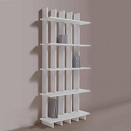 Nástěnná knihovna Shabby Chic v jasanovém dřevě moderního designu - Babele