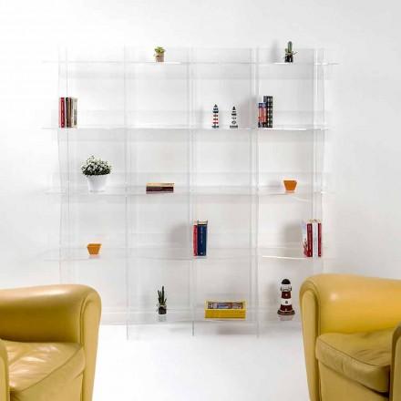 Volně stojící knihovna / stěna moderní design Pam transparentní