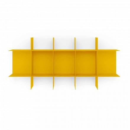 Modulární designová nástěnná knihovna z vysoce kvalitního kovu - Roger