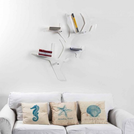 Knihovna bílá moderní design Carol Wall, made in Italy