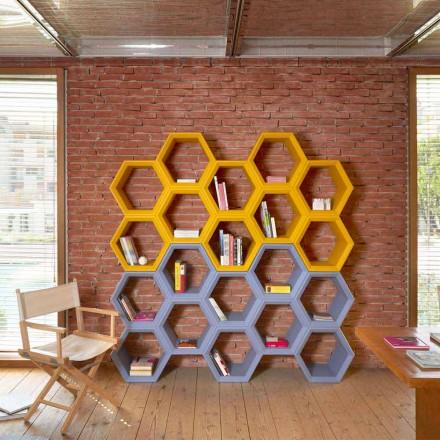 Slide Hexa barevná stěnová knižka vyrobená v Itálii