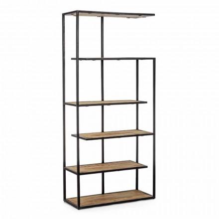 Podlahová knihovna s lakovanou ocelovou konstrukcí Homemotion - Borino