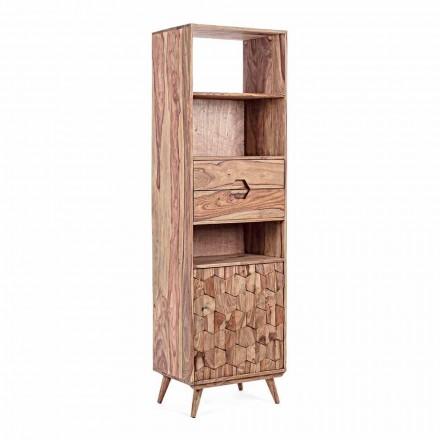 Podlahová knihovna s designem dřevěné konstrukce Vintage Homemotion - Ventador