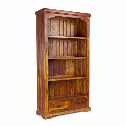 Podlahová knihovna v klasickém designu z masivního akátového dřeva Homemotion - Umami
