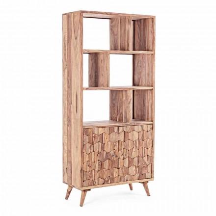 Podlahový regál s vintage designem ze dřeva a oceli Homemotion - Ventador