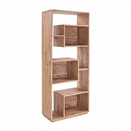 Moderní podlahová knihovna Homemotion se strukturou akátového dřeva - Genza