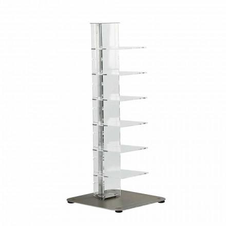 Knihovna moderní design methakrylát, L35xP35xH100 cm, Jesse