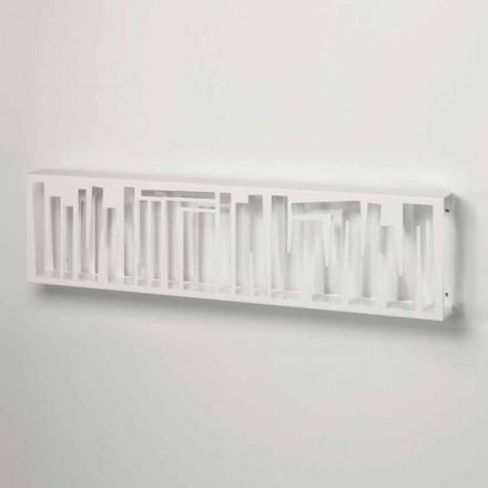 Moderní designová nástěnná knihovna z bílého kovu vyrobená v Itálii - Bolívie