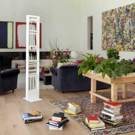 Moderní podlahová knihovna s bílými kovovými policemi vyrobenými v Itálii - Bolívie